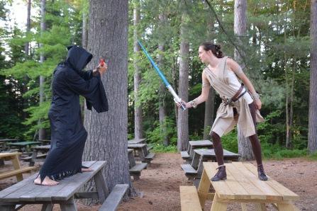 Star wars comes alive at camp