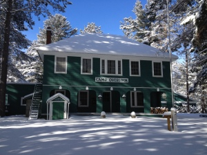 Overlook Lodge in snow